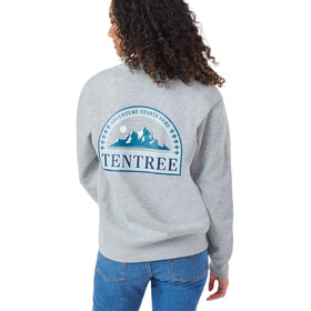 tentree Adventure Boyfriend T-shirt Col ras-du-cou manches longues Femme, hi rise grey heather